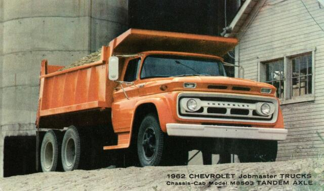 Print Orange 1962 Chevrolet Dump Truck For Sale Online Ebay