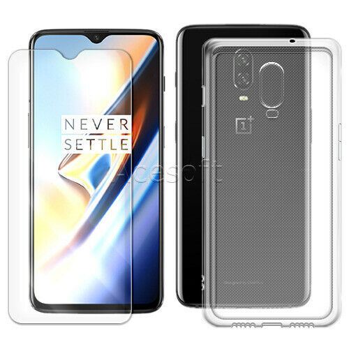 Clear Tempered Glass Screen Protector Soft TPU Case Cover