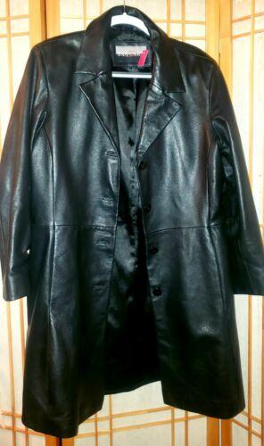 100 % Leather coats jackets women Long