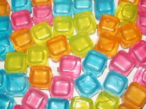 Set-Lot-x6-Cube-Glacon-Reutilisable-Boisson-Cocktails-Couleur-au-Choix-NEUF