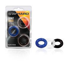 Stay Hard Donut Rings 3 Pack - Male Enhancement Rings