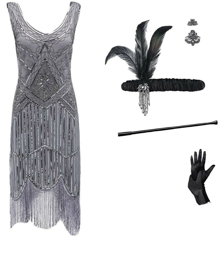 roaring 20's dress Size Xl Comes With Accessories - image 1
