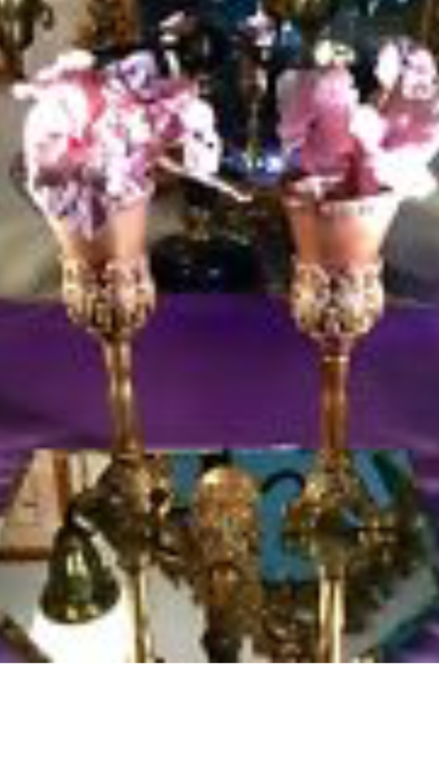 Tussie Mussie Gold Color Victorian Wedding Bouquet Posy Holders (3) Stands New