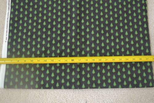 Christmas Trees on Black Quilting Cotton Windham By 1//2 Yd M8006