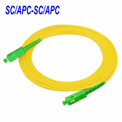 1.5M SC//APC-SC//UPC Simplex 9//125 SingleMode Fiber Optic Cable Patch Cord jumper