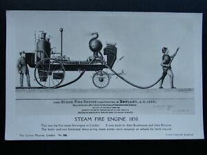 Transport-c1830-ENGLANDS-FIRST-STEAM-FIRE-ENGINE-c1950s-RP-Postcard