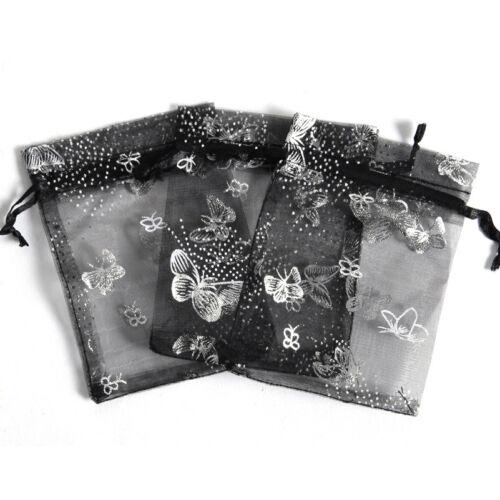 50Pcs Organza Gift Bags Jewelry Drawstring Bags Wedding Favor Bag Mesh CY