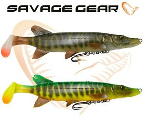 Savage-Gear-New-4D-PIKE-SHAD-Fishing-Lures-Swim-Baits-20cm-65g-Predator-Tackle