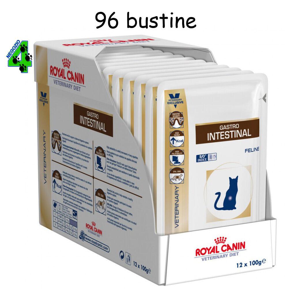 ROYAL CANIN 96 bustine GASTRO INTESTINAL 100 gr UMIDO per gatto gatti