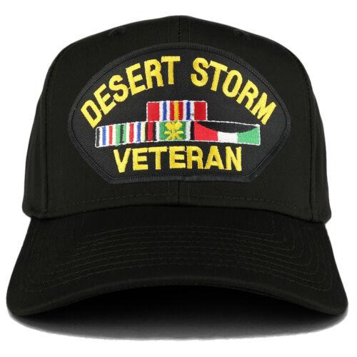 FREE SHIPPING XXL Oversize Desert Storm Veteran Large Patch Baseball Cap