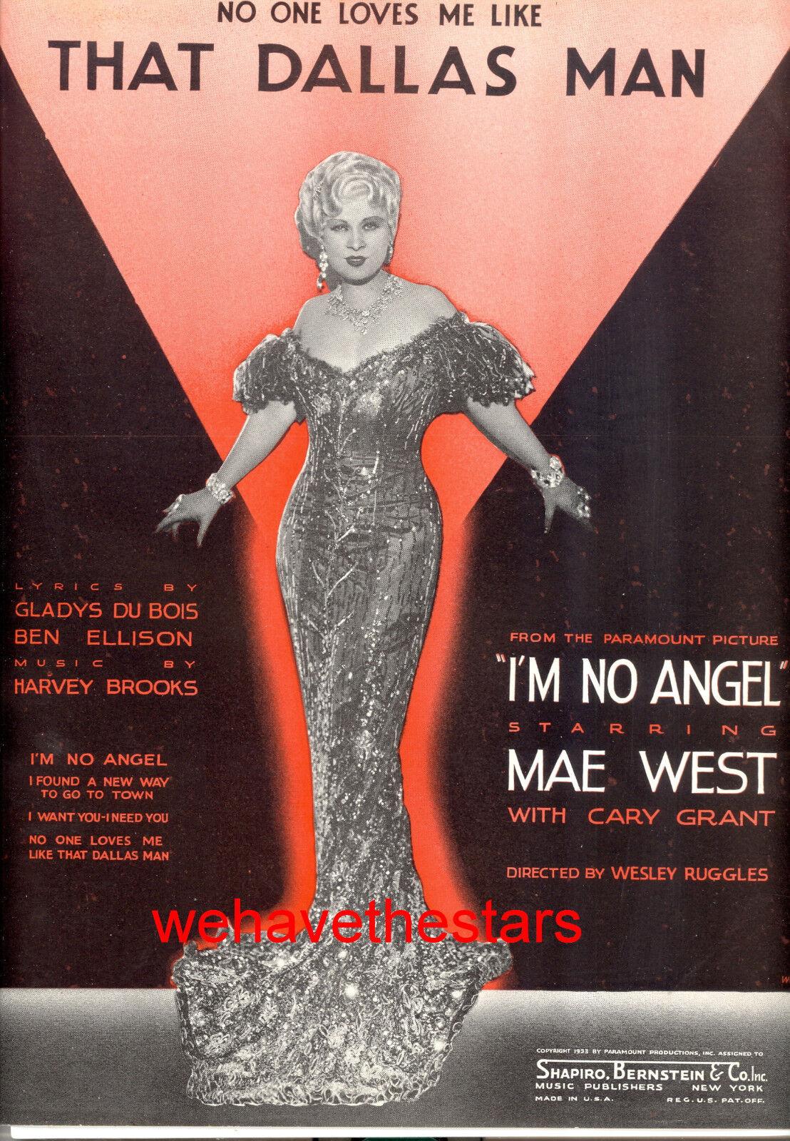 I'M No Angel Blatt Music That Dallas Mann   Mae West