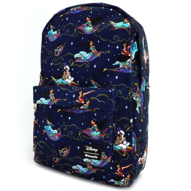 fdb5b75b1f6 Loungefly Disney Aladdin Carpet Ride Jasmine AOP Bookbag Backpack WDBK0350