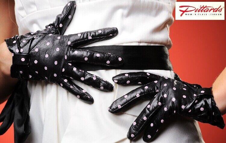 ! totalmente nuevo! glamo noble trozos de metal guantes de cuero! totalmente nuevo!