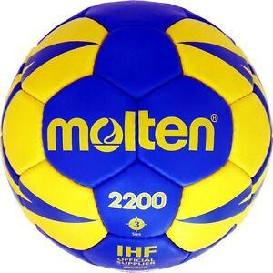Molten handball trainingsball soft Entraînement Ballon taille 0 1 2 3 Bleu/Jaune