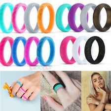 8x Silicone Rings Wedding Rubber Bands for Women & Men Decoration Rings Flexible