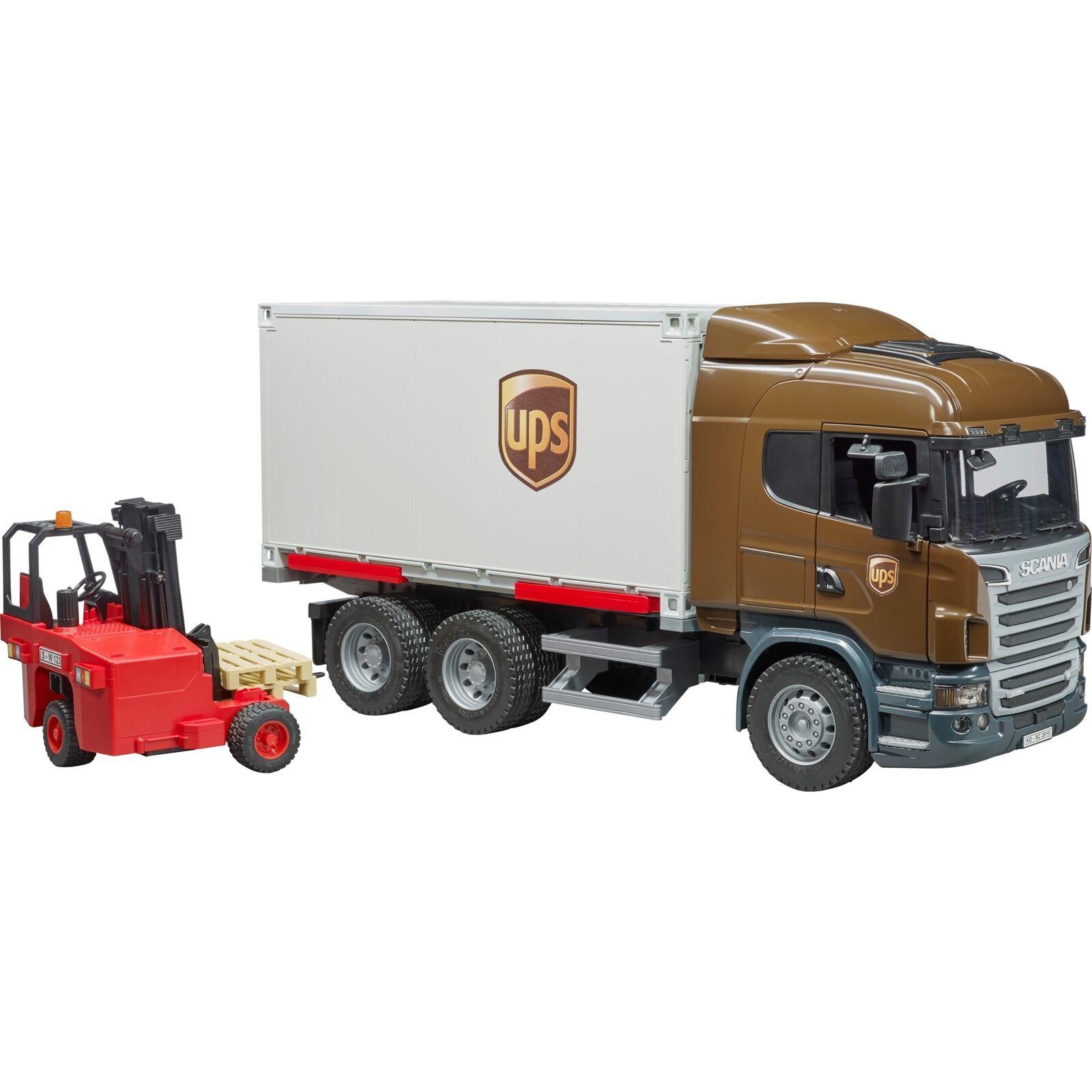 Bruder Scania R-Serie UPS Logistik-LKW , Modellfahrzeug