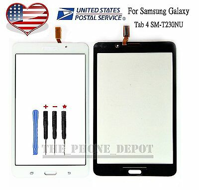 "For Samsung Galaxy Tab 4 SM-T230 Touch Screen Digitizer 7"" Glass Tape Wifi White"