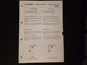 Herzhaft Original Service Manual Blaupunkt Autoradio Essen 7639200 7639209 Modische Und Attraktive Pakete Tv, Video & Audio