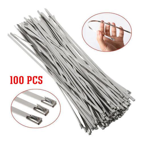 100xEdelstahlbinder Edelstahlkabelbinder Edelstahl Kabelbinder Metall Binder Set