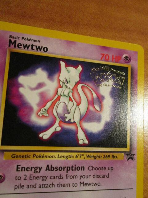 OLD Original Vintage Wotc Pokemon Card Black Star Promo Mewtwo  #3 Near Mint