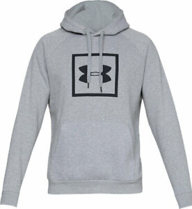 Large cappuccio Armour New Under Rival Felpa Logo con Ua Fleece Grey TwPxBaq