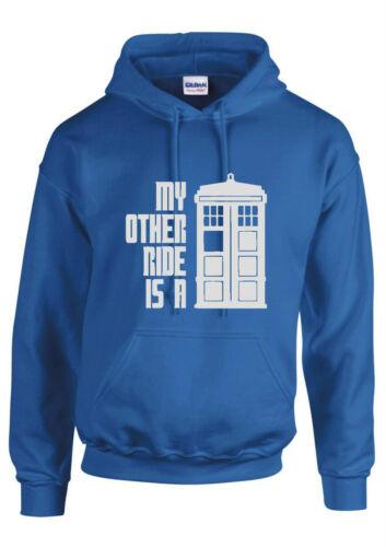 DR Who T Shirt le mie altre Ride è una serie TV Tardis Da Uomo Unisex Bambini Felpa con Cappuccio