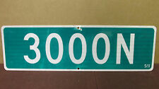 "Used Vintage Aluminum ""3000 N"" Street Road Traffic Sign 5/11 ~ 30in x 9in  S81"