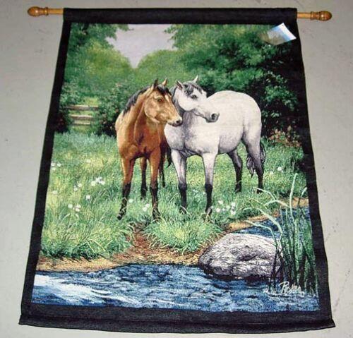 Horses ~ Equestrian Tapestry Wall Hanging  ~ Linda Picken