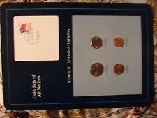 Coin Sets of All Nations China (Taiwan) w/card UNC 1981-1986 1, 5 Yuan 1981