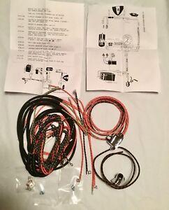harley 4735 38 1938 46 knucklehead ul w wiring harness kit w wired image is loading harley 4735 38 1938 46 knucklehead ul w