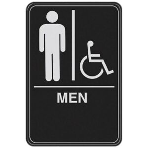 NEW ADA Compliant Men's Handicap Accessible Restroom Sign ...