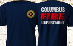 Nouveau Columbus Ohio Fire Department Pompier Sauvetage Marine T-shirt S-4XL