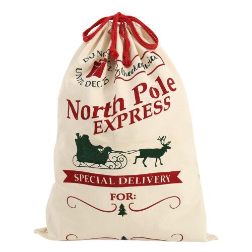 Large Xmas Storage Santa Gift Sack Merry Christmas Family Kids Bags 70*50cm New
