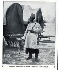 Deutscher Wachposten in Polen 1914 * WW 1