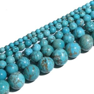 Real-Natural-100-Turquoise-Gemstone-Spacer-Loose-Beads-Charms-DIY-4-6-8-10-mm