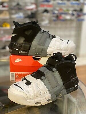 Respetuoso Desde allí alcohol  Nike Air More Uptempo 96 Tri Color 921948-002 Black/Grey/White Size 10  Pippen | eBay