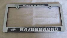 Arkansas Razorbacks Camo Domed Metal License Plate Frame