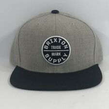 496b1b7e99923 ... spain item 2 nwt brixton supply trade mark cap hat adjustable oath iii  snapback grey black
