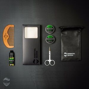 Essential-Mens-Grooming-Kit-Beard-Balm-Oil-Wax-Comb-6pc-set-SWEET-MINT-1E