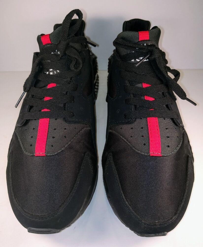 NIKE AIR HUARACHE (31843-003) Blk, Grn, & rouge Sneaker Tennis chaussures (11)