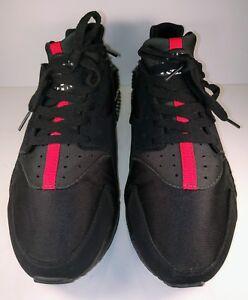 NIKE-AIR-HUARACHE-31843-003-Blk-Grn-amp-Red-Sneaker-Tennis-Shoes-11