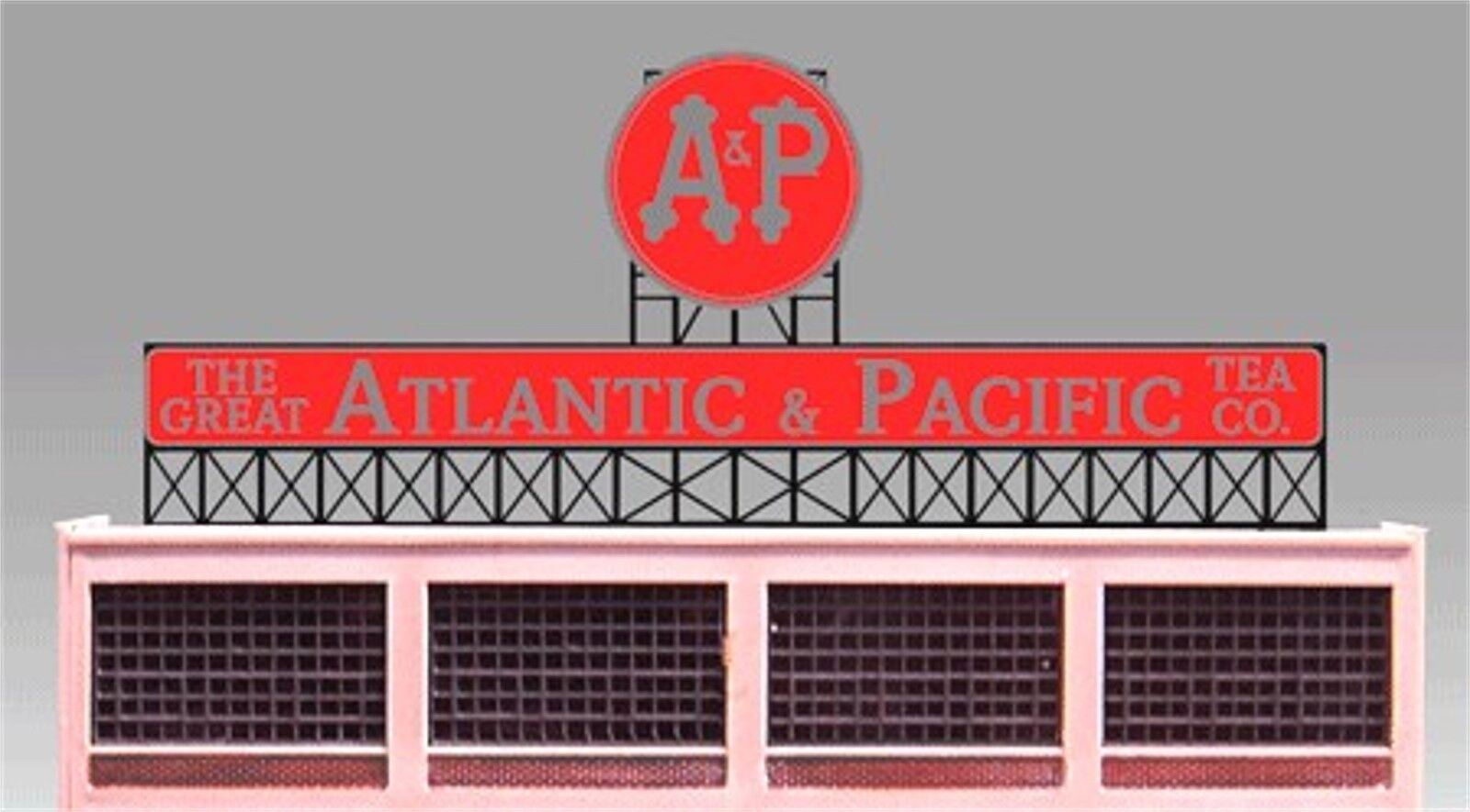 Miller's A & P Atlantic Pacific Tea Company Animated Neon Sign O HO 88-0151