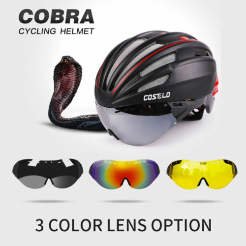 Costelo Cobra bike Helmet MTB Road Bike Helmet Bicycle Helmet M/&L Goggles lens