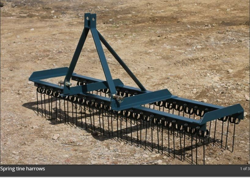 Agri-fabs 8ft 3pl spring tine harrow. Chain harrow, Tractor. Equestrian
