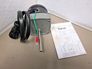 HURST MODEL AB Instrument Motor  SP3665  W2T378425  U29410 600 RPM 115V