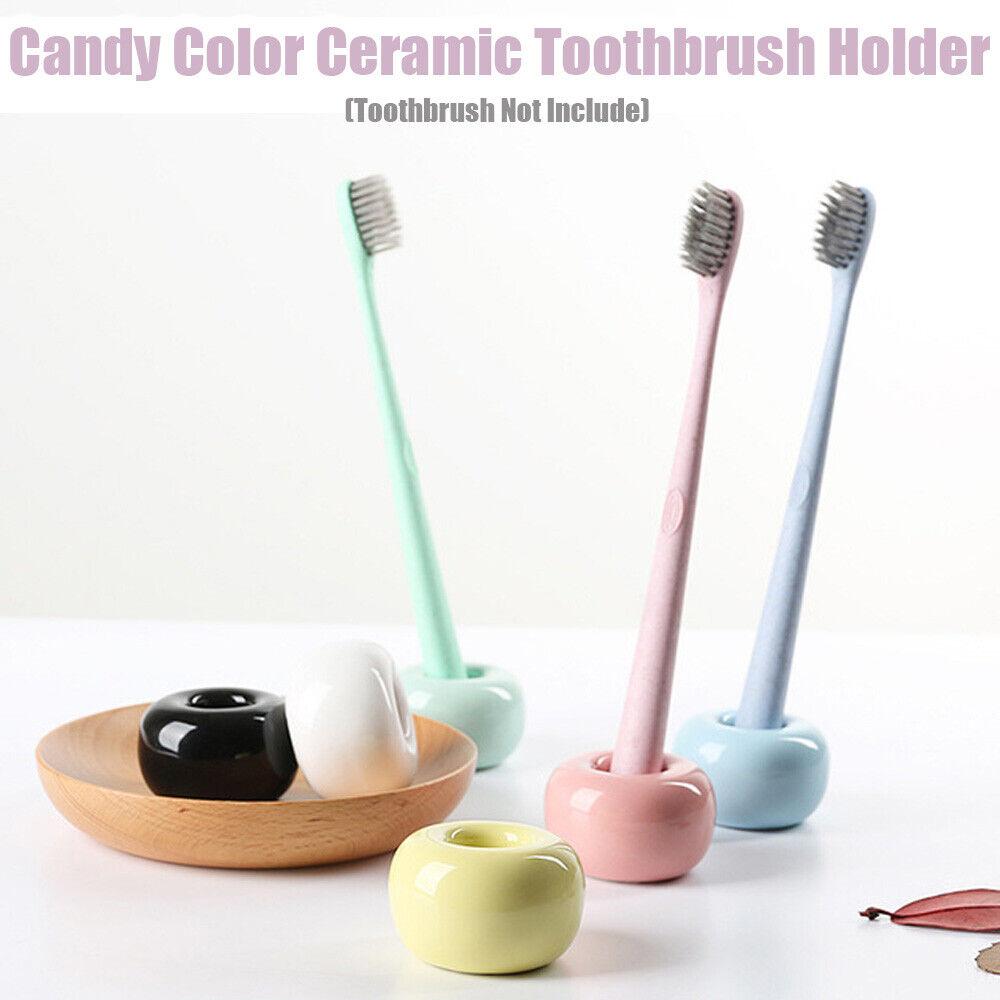 Mini Ceramic Handmade Toothbrush Holder Stand for Bathroom Vanity lz