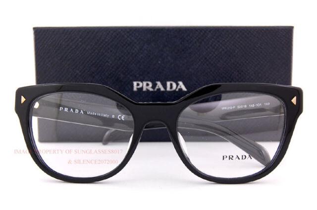 b2bd0c7b3e9 PRADA RX Eyeglasses Frames VPR 21s-f 1ab-1o1 53x19 Shiny Black Made ...