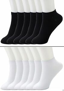 6-12-Packs-Ankle-Cool-Socks-Sport-Mens-Womens-Size-10-13-Low-Cut-Lot-NWT-70033A