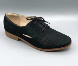D 5 5 Clarks Ladies Uk Shoes Molly Black Nubuck Brogues hotel Novedades qxR86zS8