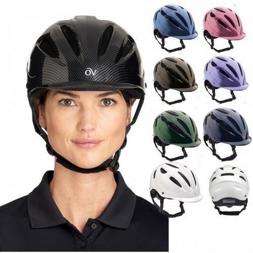 Ovation Protege Riding Helmet ASTM-SEI Certified Low-Profile Design